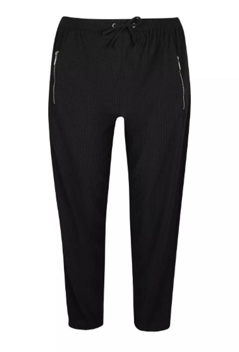 Black Crinkle Trousers