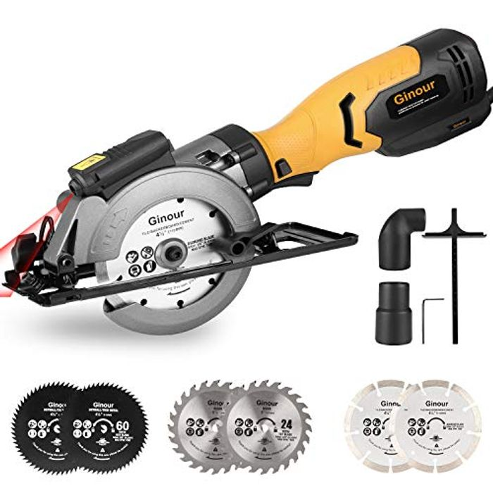 750W 3600RPM Mini Circular Saw with Laser