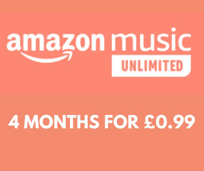 CHEAP! Amazon Music Unlimited - 4 Months for £0.99