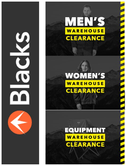 BLACKS - CLEARANCE SALE - up to 70% OFF
