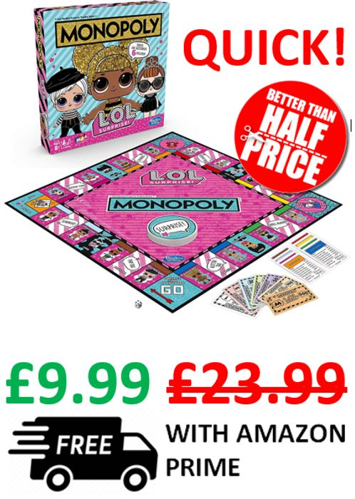 HURRY! Monopoly L.O.L. Surprise Edition - NOW ONLY £9.99!