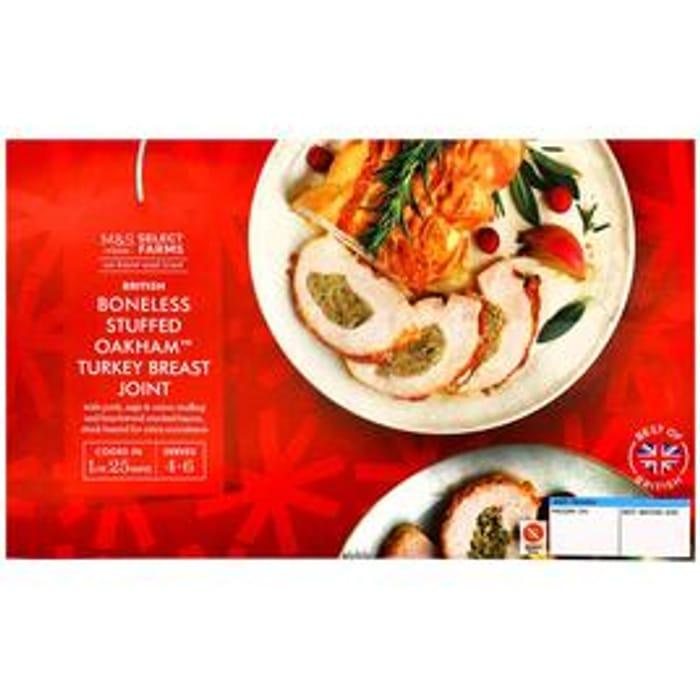 M&S Select Farms British Stuffed Oakham Turkey Breast Joint Small Frozen 1.08kg