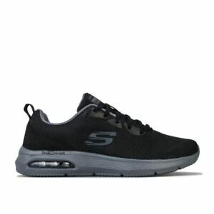Skechers Men's Dyna-Air Lace-up Walking Trainers in Black - Only £35.15!