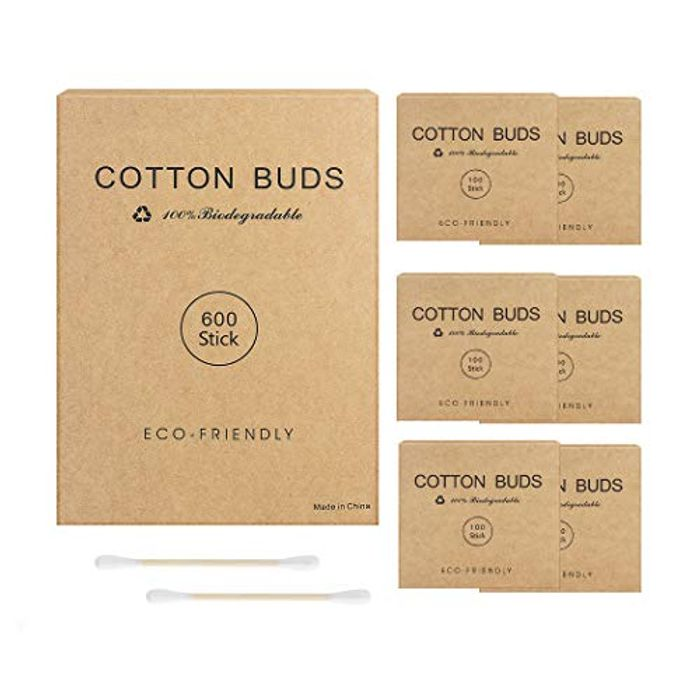 600 Sticks Bamboo Cotton Buds with Eco Friendly Packaging