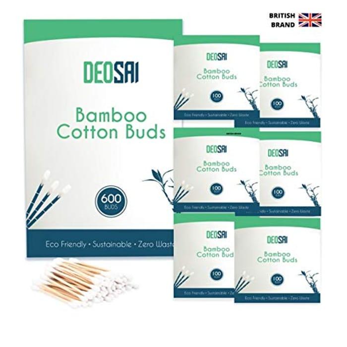 600 Premium Bamboo Cotton Buds