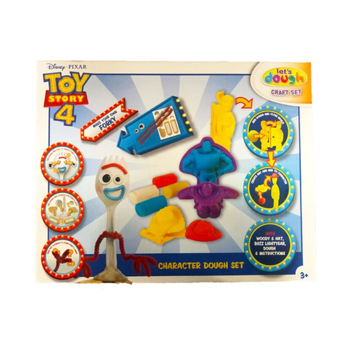 Disney Pixar Toy Story 4 Let's Dough Character Dough Set and Make Your Own Forky