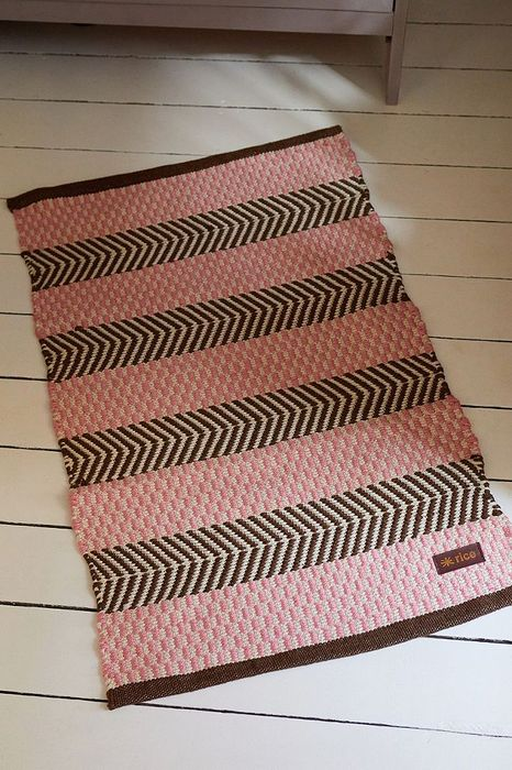 Pink Woven Rug Down From £35 to £17