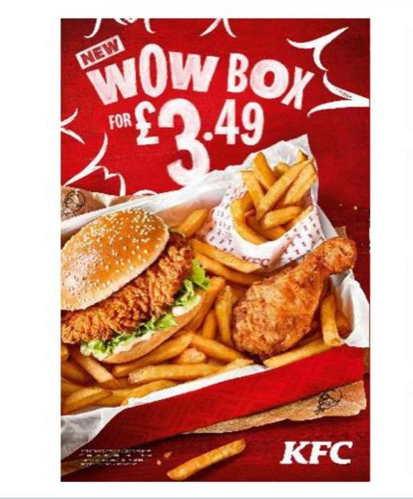 KFC Wow Box- From 5th Oct. Only £3:49 (Fillet burger, 1 piece chicken & fries)