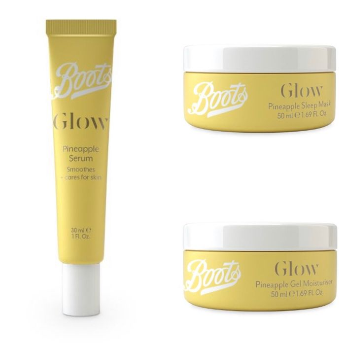3 for 2 On Boots Glow Pineapple ,3 Products worth £15 You Getting for Only£10