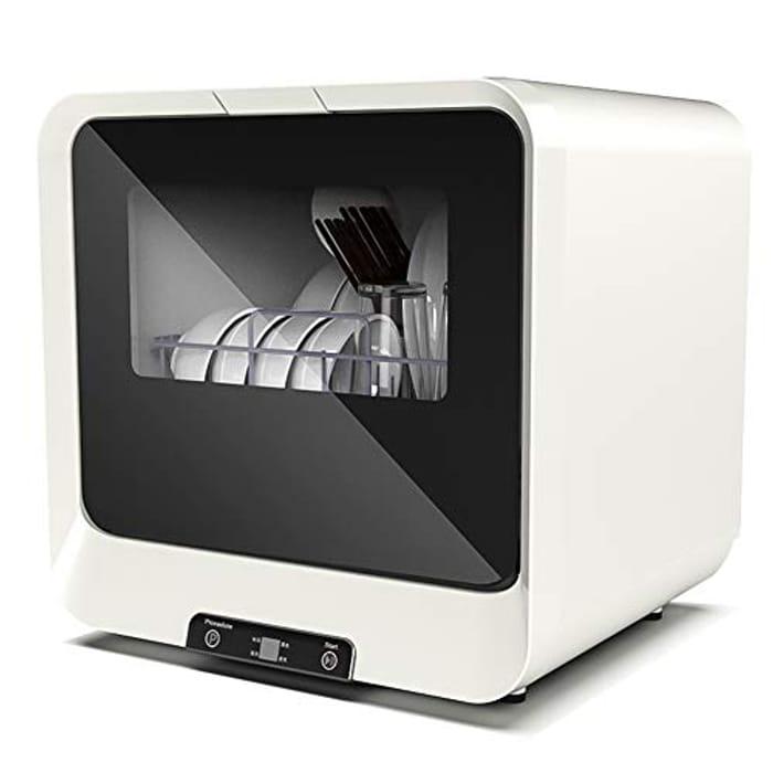 Mini Dishwasher, IDABAY 4 Programs Table Top Dishwasher - Only £55.98!