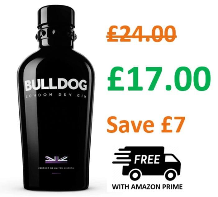 SAVE £7 - Bulldog London Dry Gin, 70 Cl