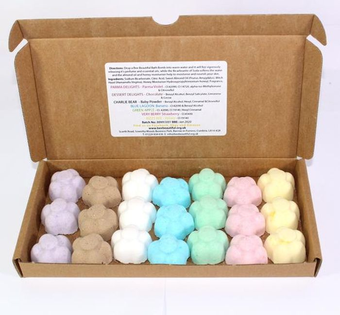 DELIVERY FREE! 21 Bath Bombs Mixed Scents of 21 X 10g Flowers Bee Beautiful