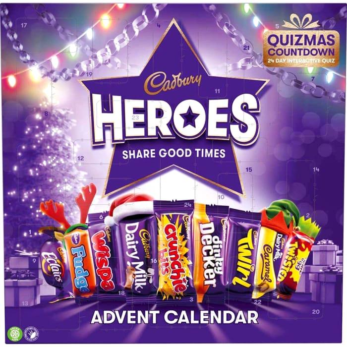 Cadburys Heroes Quizmas Countdown Advent Calendar