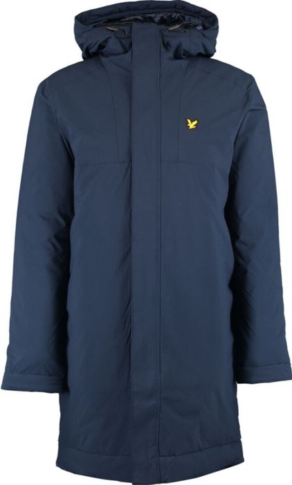 LYLE & SCOTT Navy Hooded Manager Coat