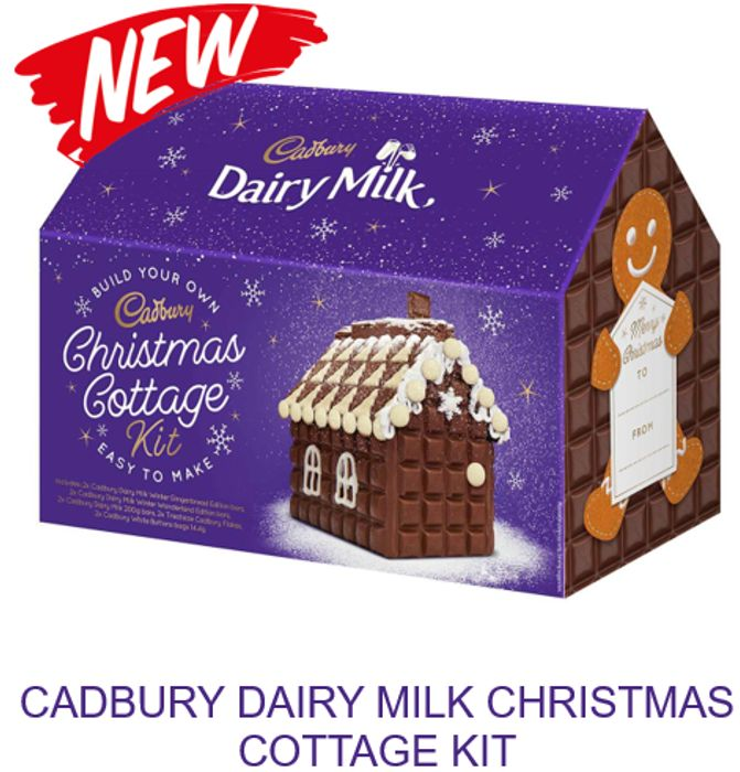 CHEAP! Cadbury Dairy Milk Christmas Cottage - BUILD YOUR OWN KIT