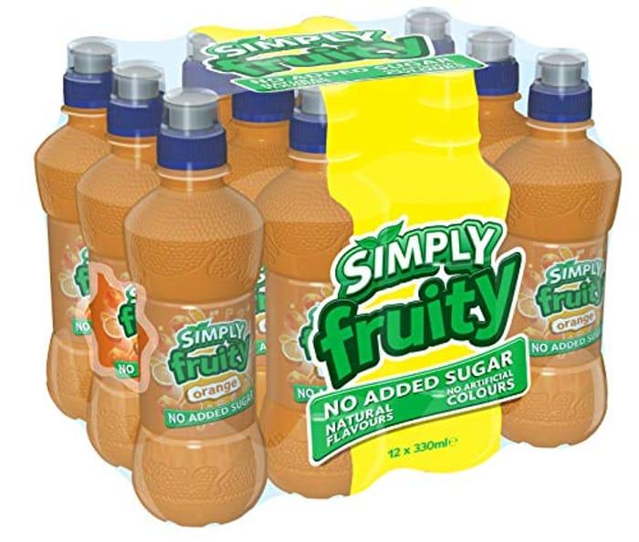 Simply Fruity Orange Juice Drink 330ml, (Pack of 12