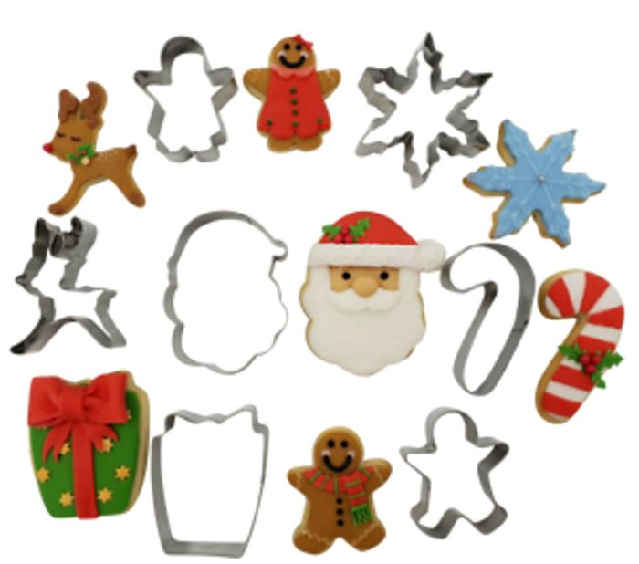 7 Christmas Metal Biscuit Cutters