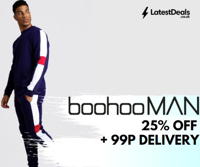 boohooMAN - 25% Off Menswear + 99p Delivery & New Burna Boy Range