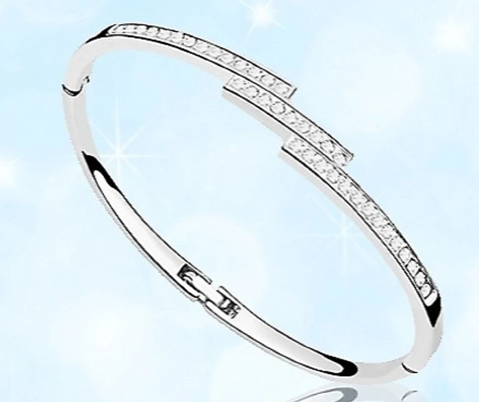 Swarovski Elements Triple Crystal Row Bracelet + EXTRA 50% Off