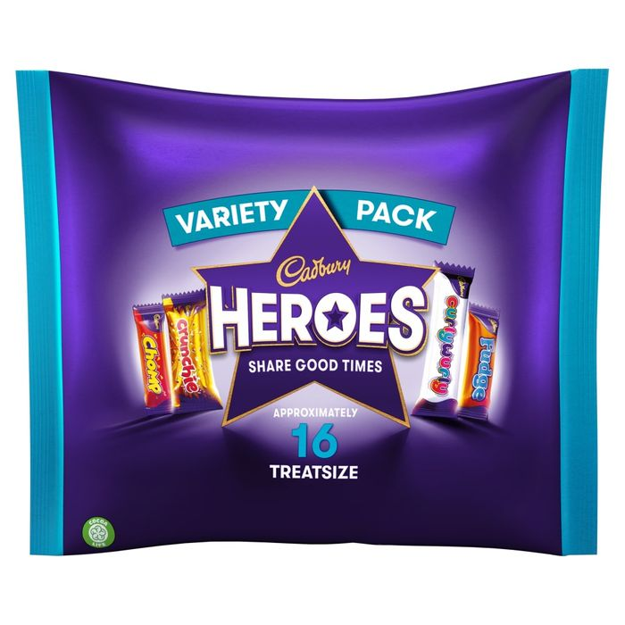 Cheap Cadbury Heroes Treat Size Half Price!