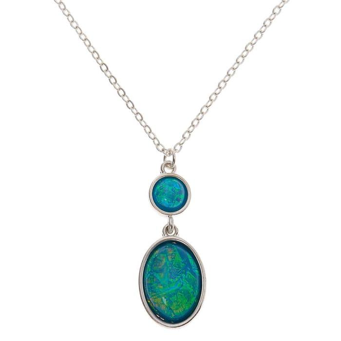 Silver Aquatic Pendant Necklace - Turquoise