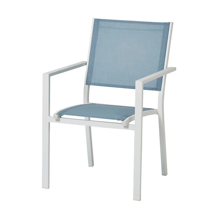 Barbana Arona Blue & White Metal Armchair