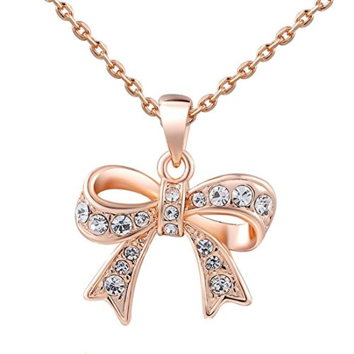 Rose Gold Bow Chain Necklace
