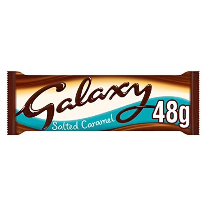 **Expired**Galaxy Salted Caramel Chocolate Bars Bulk Box, 24 Bars of 48 G -