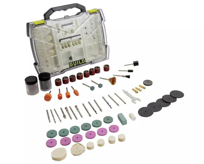 Guild 145 Piece Rotary Tool Accessory Set - Only £10!