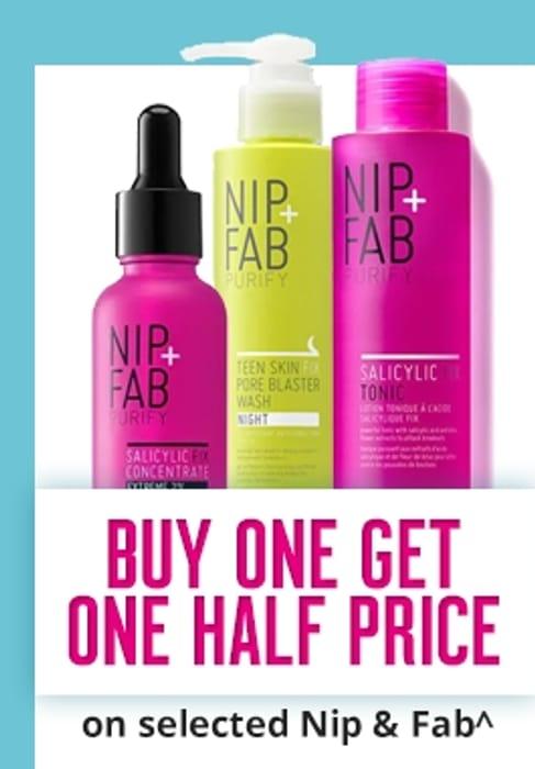 Members Only! Treat Week! Buy 1 Get 2nd 1/2 Price on Selected Nip+Fab Skincare