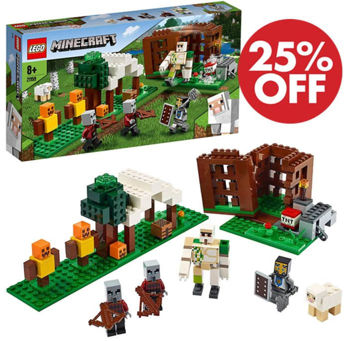 SAVE £7.50 + FREE DELIVERY - LEGO Minecraft - The Pillager Outpost (21159)
