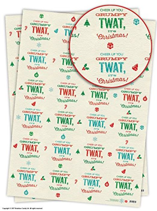 Cheer Up You GRUMPY TWAT - IT'S CHRISTMAS! Gift Wrap (£3.65 Delivered)