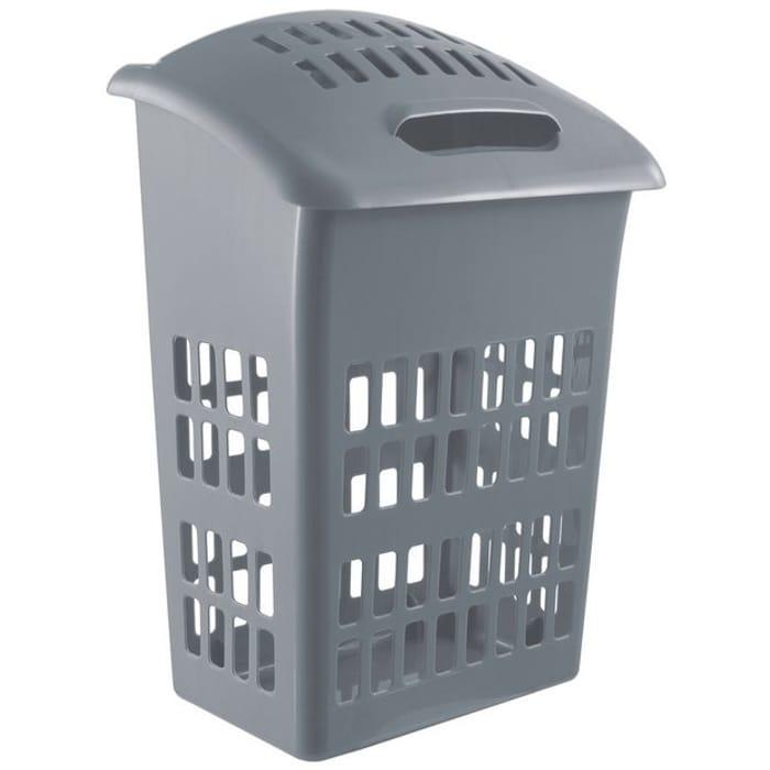 Rgos Home 54 Litre Laundry Bin - Flint Grey, or White