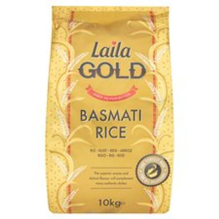 Laila Gold Basmati Rice 10Kg £12 and Elephant Atta 10Kg Club-Card Price £5.50