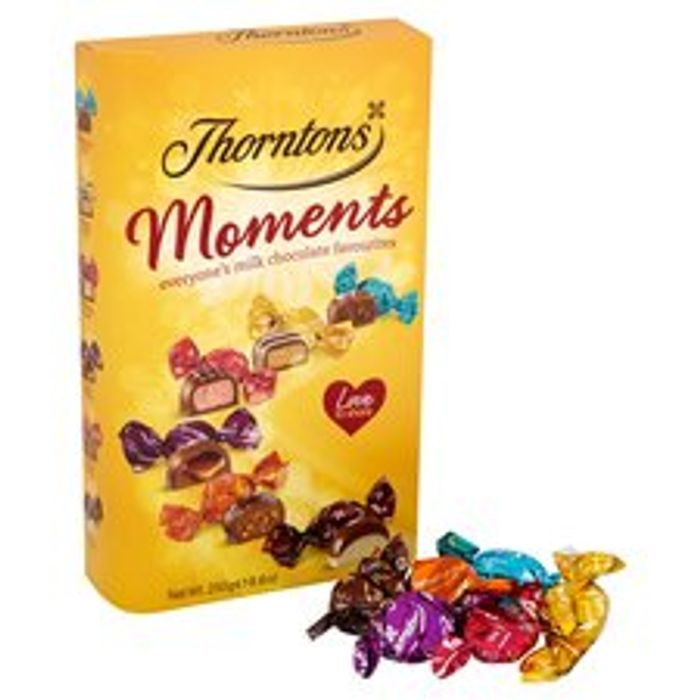 Thorntons Moments Chocolates Carton 250G (Clubcard Price)