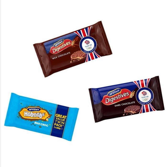 Twin Pack Dark/Milk Digestives/Milk Chocolate Hobnobs Half Price