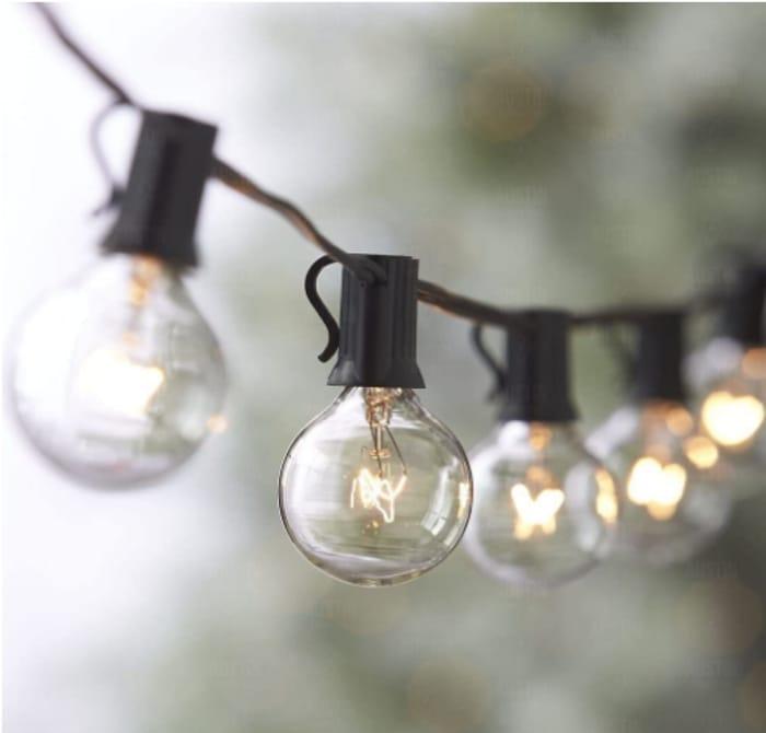 Globe Festoon String Light Bulb 27Ft G40 - Only £12.86!