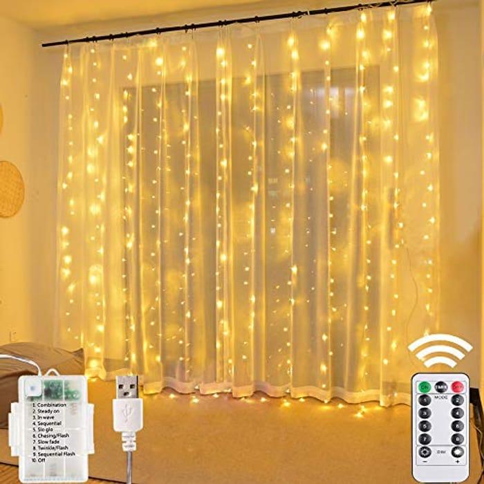 Window Curtain String Lights- 3M