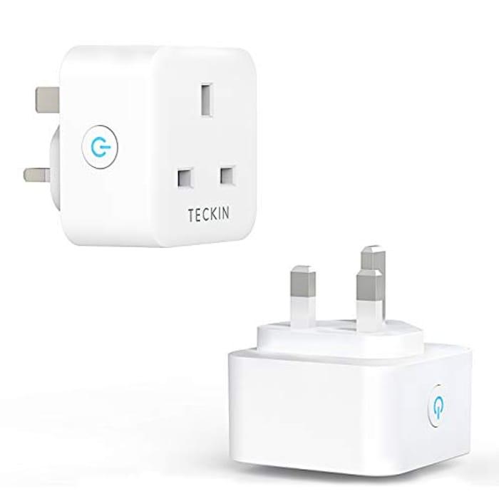 TECKIN Alexa Compatible 13A WiFi Smart Plugs (2 Pack)