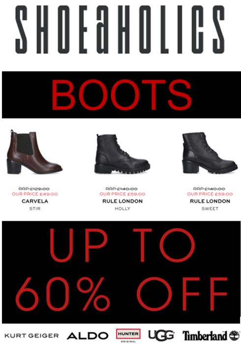 Women's Boots - up to 60% off - Shoeaholics