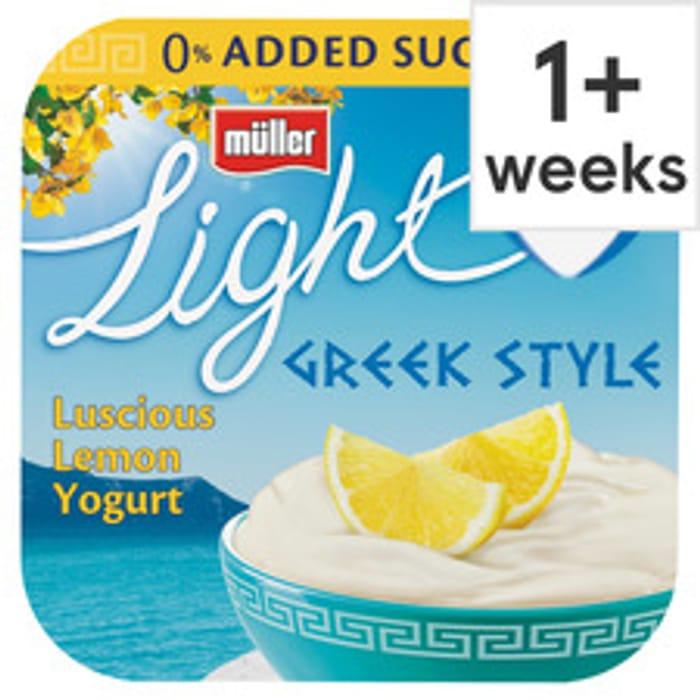 All Varieties of Muller Light Greek Yogurts 4X120g Clubcard Price