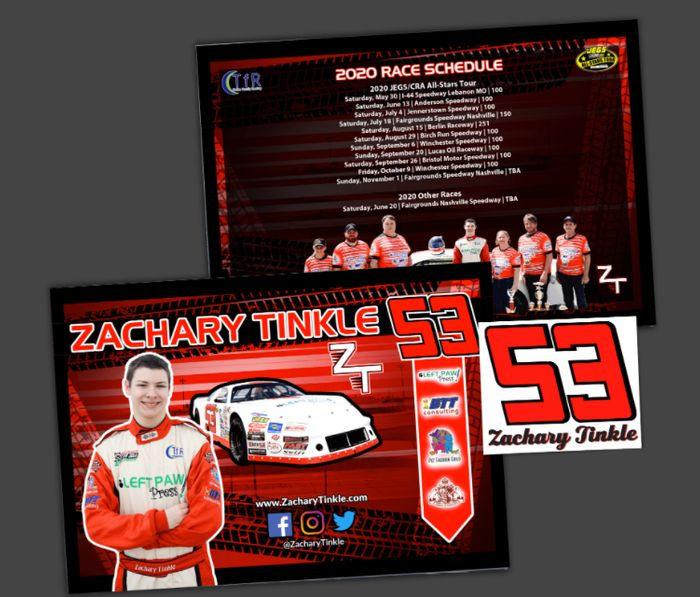 FREE Zachary Tinkle Hero Cards & Decals Sent To You! *Posted Worldwide