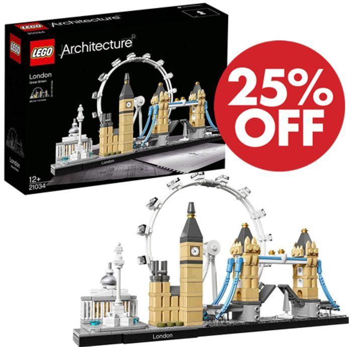 25% OFF + FREE DELIVERY - LEGO Architecture 21034 - The London Skyline