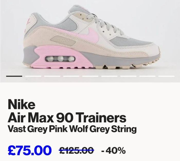 Nike Air Max 90 Trainers Now £75 Free Delivery at Offspring
