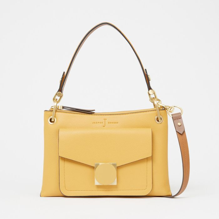 J by Jasper Conran - Yellow Faux Leather Coated 'Emerson' Cross-Body Bag