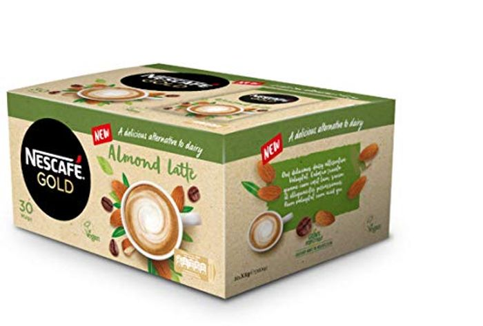 NESCAF GOLD Instant Coffee Almond Latte (16g Sachets, Pack of 30)