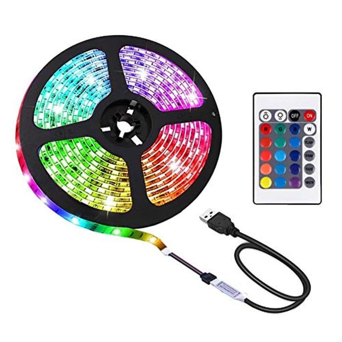 ACONDE 6.56 Feet USB LED Strip Lights, DIY Indoor Decoration