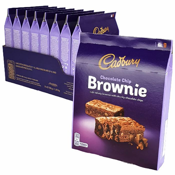 54 X Cadbury Chocolate Chip 25g Brownie Treats