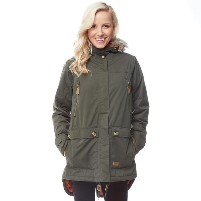 CHEAP! Trespass Womens Clea Insulated Waterproof Parka Jacket Dark Khaki