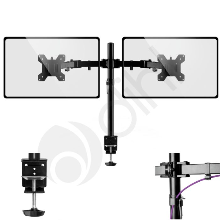 Twin Arm Mount Bracket for LCD Computer Monitor Stand - Only £16.99!